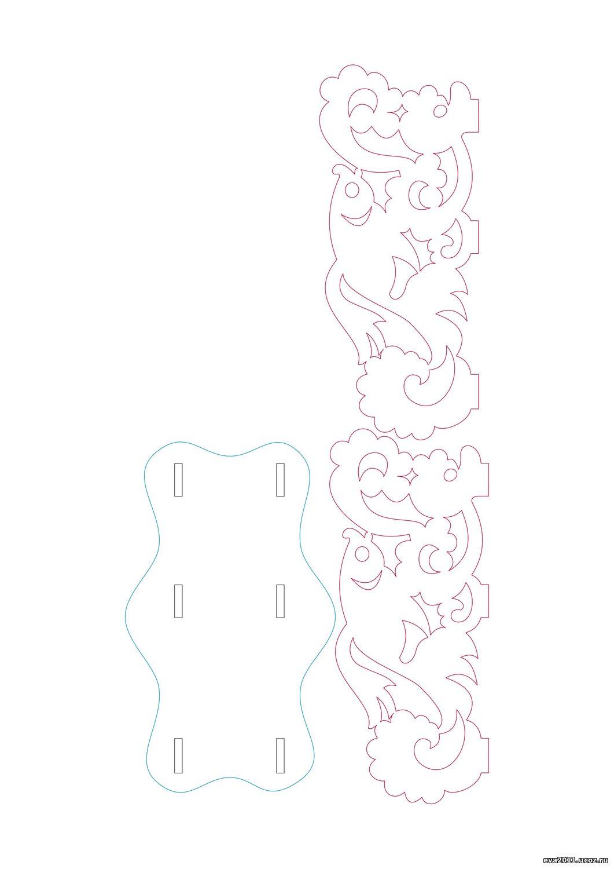 Чертеж салфетницы из фанеры своими руками чертежи 45